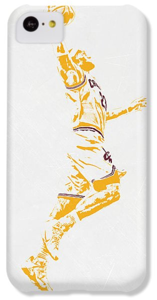 Lebron James iPhone 5c Case - Lebron James Cleveland Cavaliers Pixel Art by Joe Hamilton