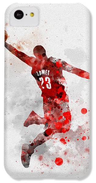 Lebron James iPhone 5c Case - Lebron James by Rebecca Jenkins