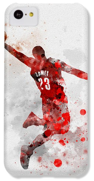 Lebron James IPhone 5c Case by Rebecca Jenkins
