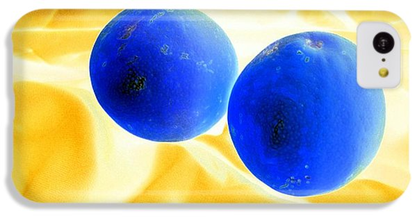 Lemon Blue IPhone 5c Case by Florene Welebny
