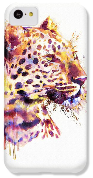 Leopard Head IPhone 5c Case by Marian Voicu