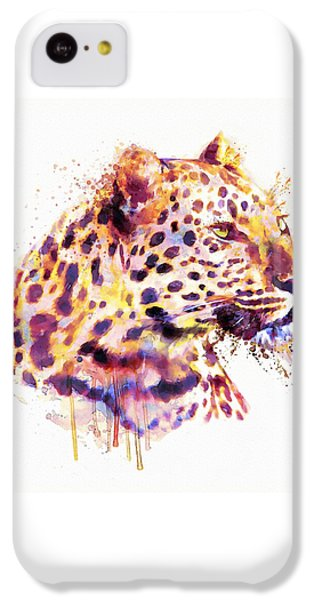 Leopard Head IPhone 5c Case by Marian Voicu