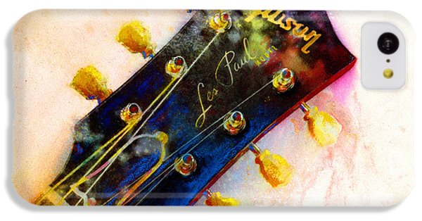 Guitar iPhone 5c Case - Les Is More by Andrew King