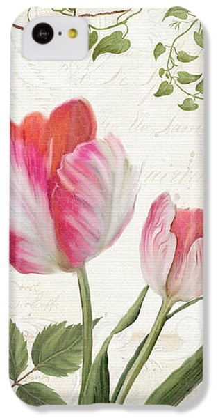 Les Magnifiques Fleurs I - Magnificent Garden Flowers Parrot Tulips N Indigo Bunting Songbird IPhone 5c Case