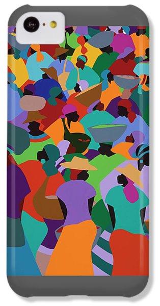 iPhone 5c Case - Les Palmes Market Haiti by Synthia SAINT JAMES