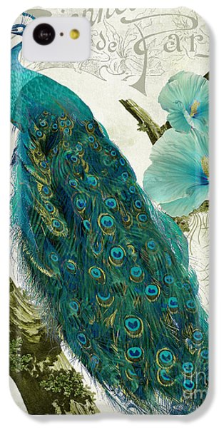 Peacock iPhone 5c Case - Les Paons by Mindy Sommers