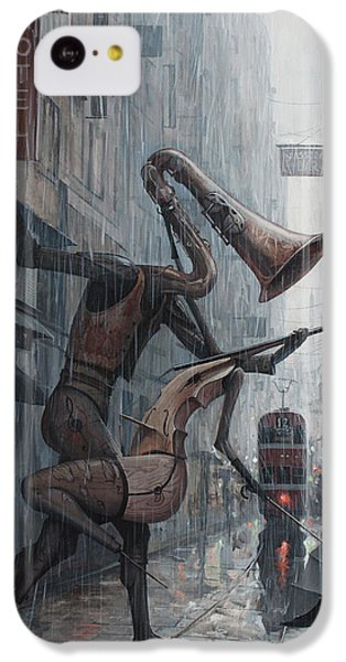 Violin iPhone 5c Case - Life Is  Dance In The Rain by Adrian Borda