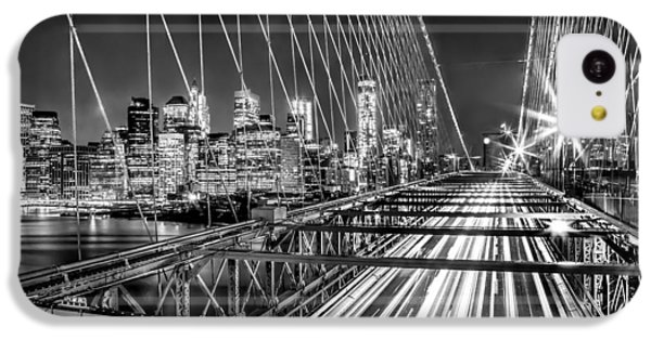 Light Trails Of Manhattan IPhone 5c Case by Az Jackson