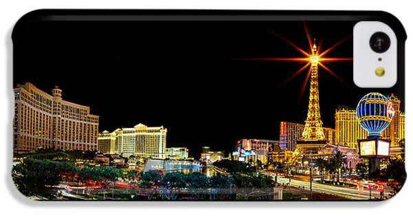 Lighting Up Vegas IPhone 5c Case by Az Jackson