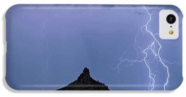 IPhone 5c Case featuring the photograph Lightning Bolts And Pinnacle Peak North Scottsdale Arizona by James BO Insogna