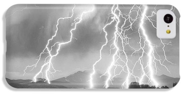 Lightning Striking Longs Peak Foothills 4cbw IPhone 5c Case