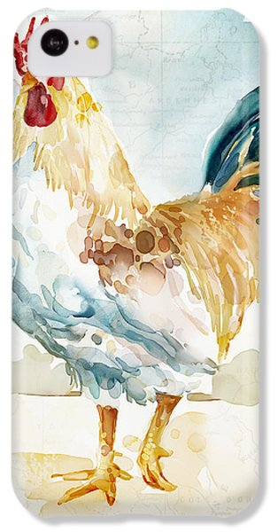 Rooster iPhone 5c Case - Lightrooster by Mauro DeVereaux