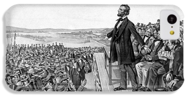 Abraham Lincoln iPhone 5c Case - Lincoln Delivering The Gettysburg Address by War Is Hell Store