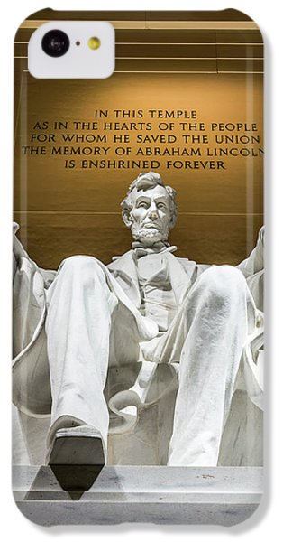 Lincoln Memorial iPhone 5c Case - Lincoln Memorial 2 by Larry Marshall