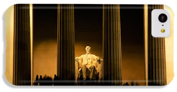 Lincoln Memorial Illuminated At Night IPhone 5c Case by Panoramic Images