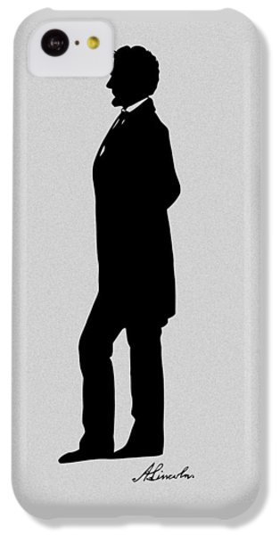 Lincoln Silhouette And Signature IPhone 5c Case by War Is Hell Store