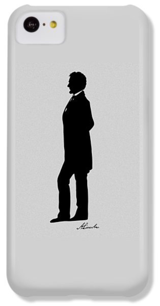 Lincoln Silhouette And Signature IPhone 5c Case