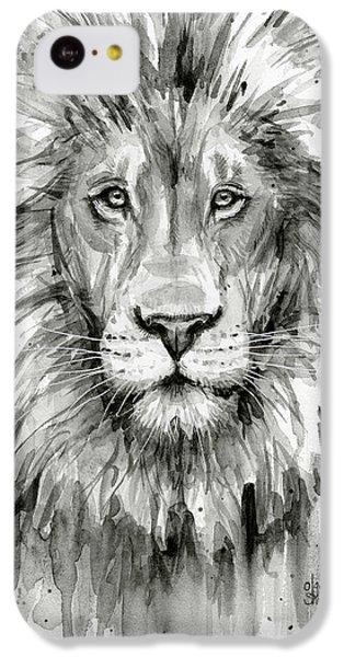Lion Watercolor  IPhone 5c Case by Olga Shvartsur