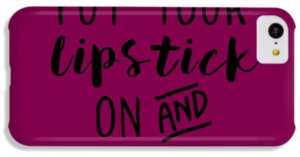 Lipstick  IPhone 5c Case by Elizabeth Taylor