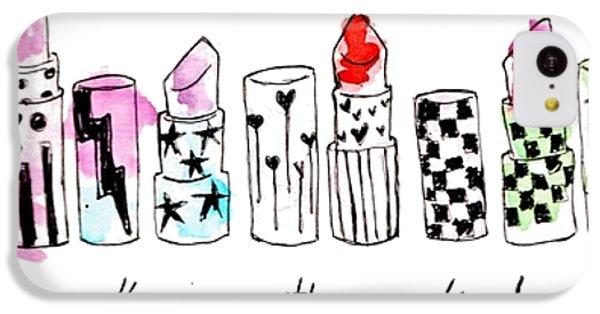 Lipstick Galore IPhone 5c Case by Elizabeth Taylor