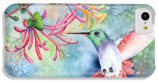 Humming Bird iPhone 5c Case - Little Hummingbird by Arline Wagner