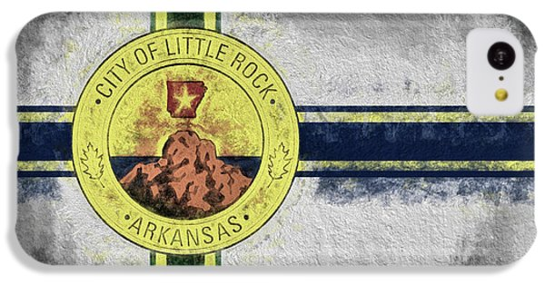 IPhone 5c Case featuring the digital art Little Rock City Flag by JC Findley