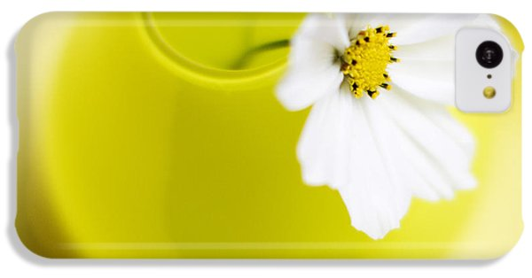 Flowers iPhone 5c Case - Little Yellow Vase by Rebecca Cozart
