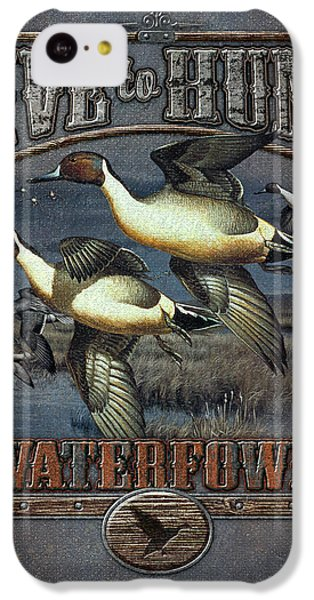 Live To Hunt Pintails IPhone 5c Case by JQ Licensing