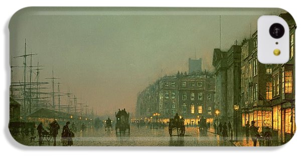 Liverpool Docks From Wapping IPhone 5c Case by John Atkinson Grimshaw