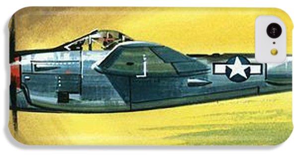 Airplane iPhone 5c Case - Lockheed P-38j Lightning by Wilf Hardy