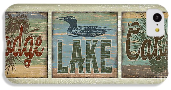 Lodge Lake Cabin Sign IPhone 5c Case