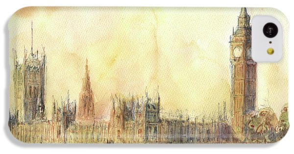 London Big Ben And Thames River IPhone 5c Case by Juan Bosco