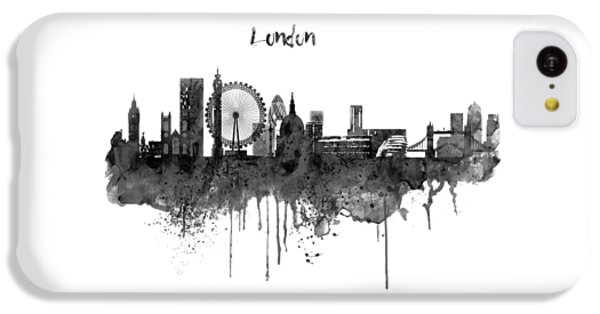 London iPhone 5c Case - London Black And White Skyline Watercolor by Marian Voicu