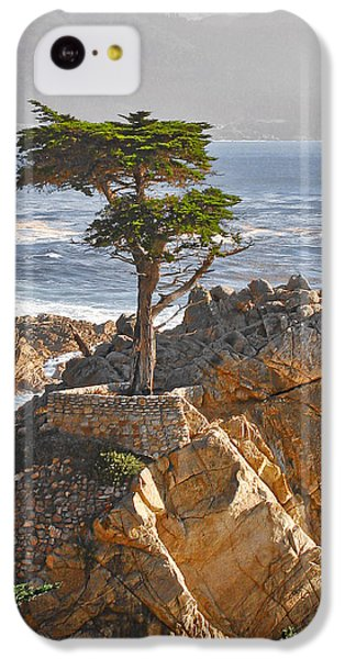 Landscapes iPhone 5c Case - Lone Cypress - The Icon Of Pebble Beach California by Christine Till