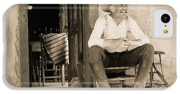 Dove iPhone 5c Case - Lonesome Dove Gus On Porch  by Peter Nowell