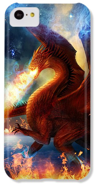 Fantasy iPhone 5c Case - Lord Of The Celestial Dragons by Philip Straub