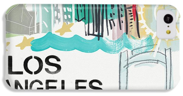 Los Angeles Cityscape- Art By Linda Woods IPhone 5c Case by Linda Woods