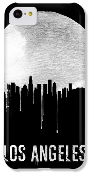 Los Angeles Skyline iPhone 5c Case - Los Angeles Skyline Black by Naxart Studio