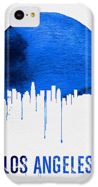 Los Angeles Skyline iPhone 5c Case - Los Angeles Skyline Blue by Naxart Studio