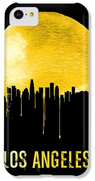 Los Angeles Skyline iPhone 5c Case - Los Angeles Skyline Yellow by Naxart Studio
