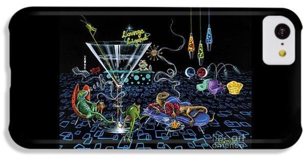 Lounge Lizard IPhone 5c Case by Michael Godard