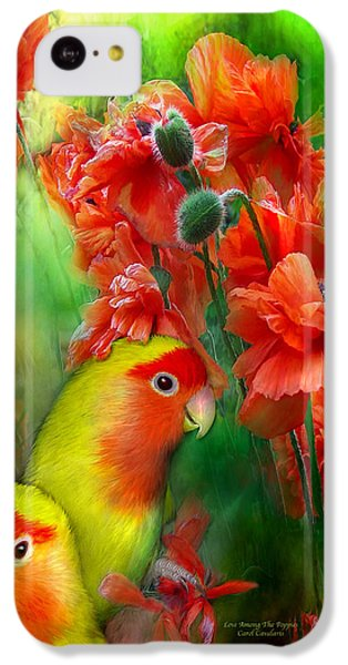 Love Among The Poppies IPhone 5c Case by Carol Cavalaris