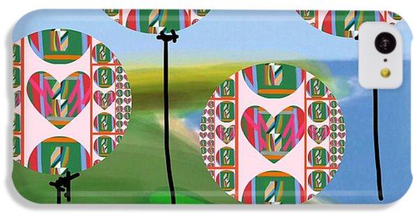 The Art Of Gandy iPhone 5c Case - Love Balloons Protecting Guam by Joan Ellen Gandy