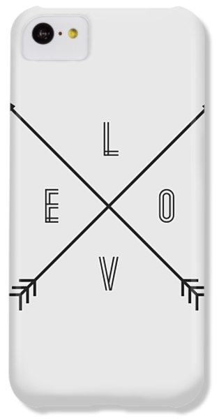 Love Compass IPhone 5c Case by Taylan Apukovska