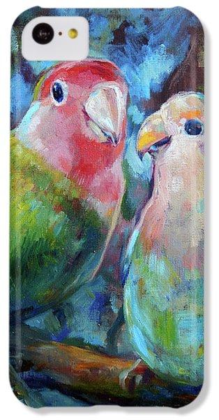 Parakeet iPhone 5c Case - Lovebirds by Tom Dauria