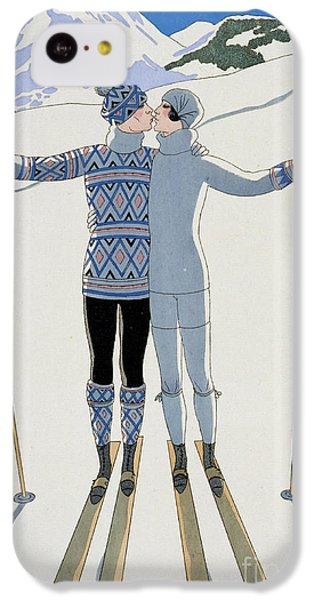 Valentines Day iPhone 5c Case - Lovers In The Snow by Georges Barbier