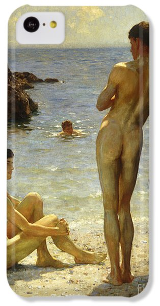 Nudes iPhone 5c Case - Lovers Of The Sun by Henry Scott Tuke