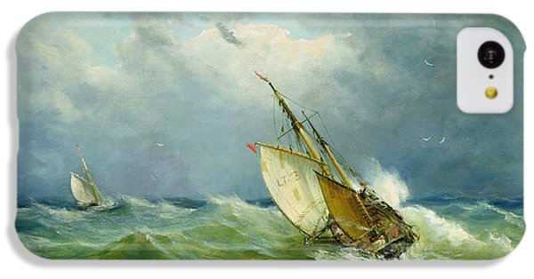 Lowestoft Trawler In Rough Weather IPhone 5c Case by John Moore