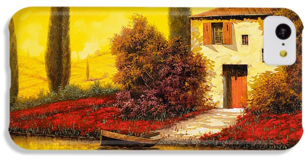 Rural Scenes iPhone 5c Case - Lungo Il Fiume Tra I Papaveri by Guido Borelli