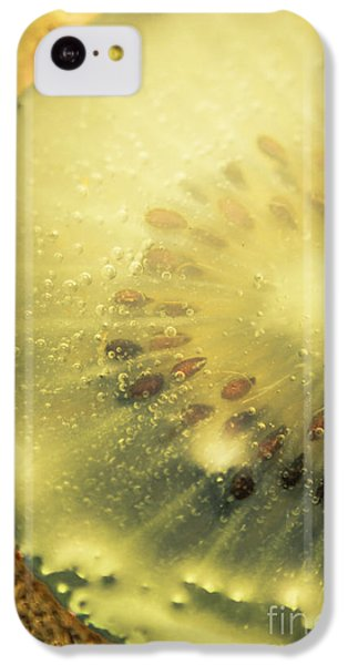 Macro Shot Of Submerged Kiwi Fruit IPhone 5c Case by Jorgo Photography - Wall Art Gallery